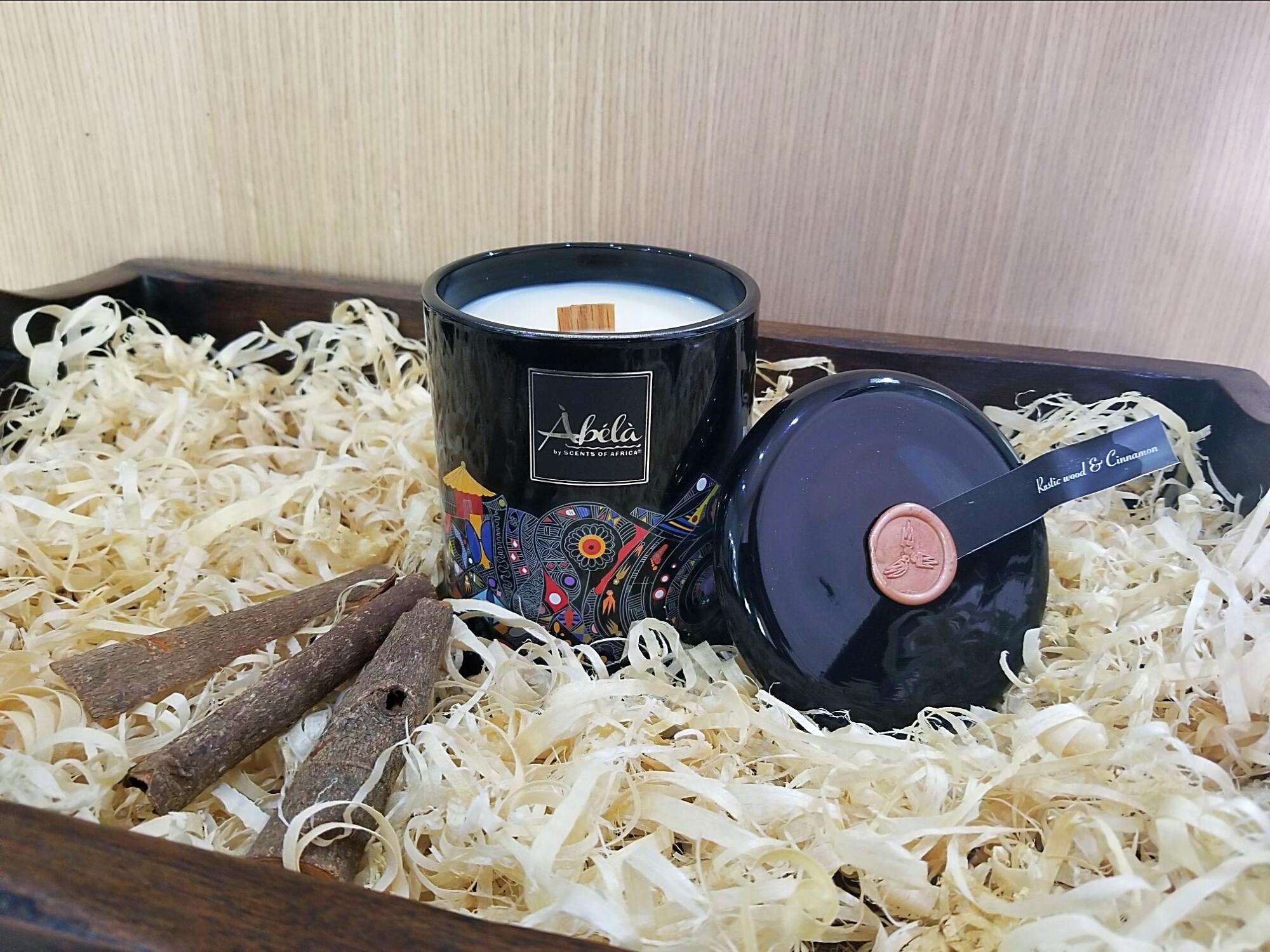 Rustic Wood & Cinnamon Perfume Candle 420g